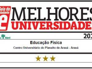 Cursos do UNIARAXÁ são estrelados com Selos de Qualidade pelo Guia do Estudante