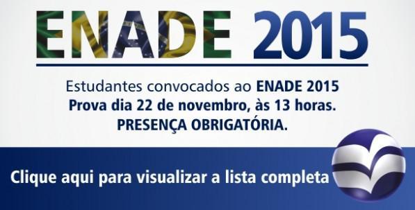 ENADE 2015 – Alunos Selecionados