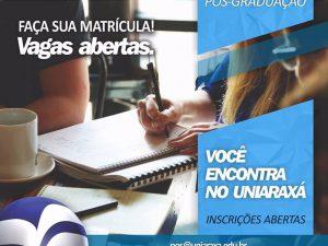 UNIARAXÁ está com inscrições abertas para cursos de MBA e Pós-Graduação