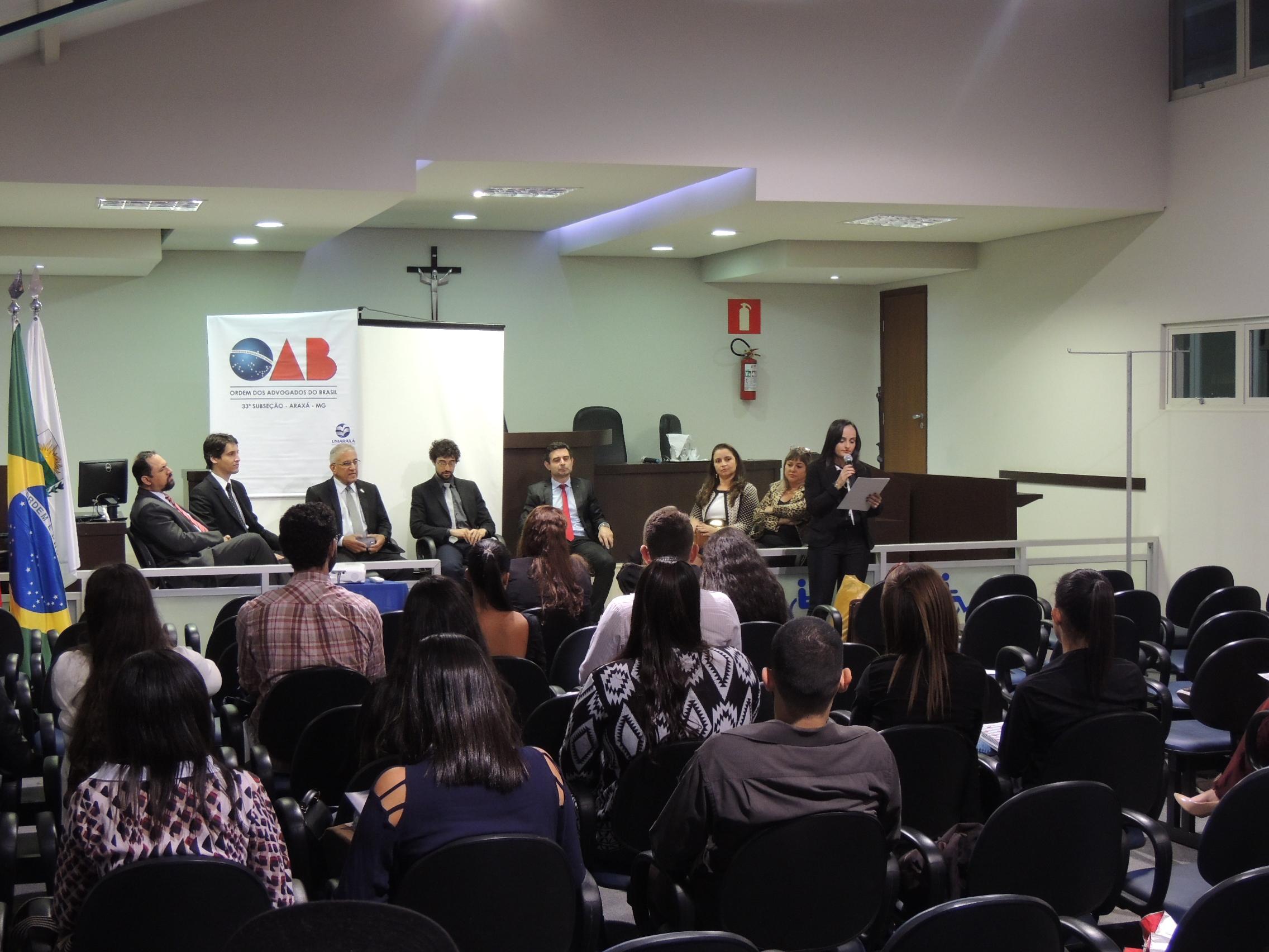 UNIARAXÁ e OAB JOVEM realizam evento para jovens Advogados
