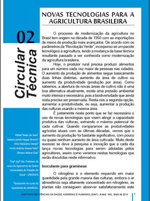 Novas Tecnologias para a Agricultura Brasileira