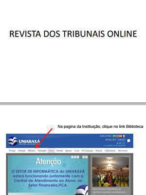 Revista dos Tribunais Online