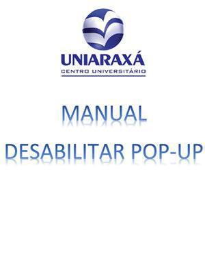 Desabilitar POP-UP