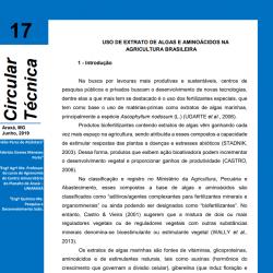 Uso de extrato de algas e aminoácidos na agricultura brasileira