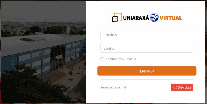 Acessando Uniaraxa Virtual